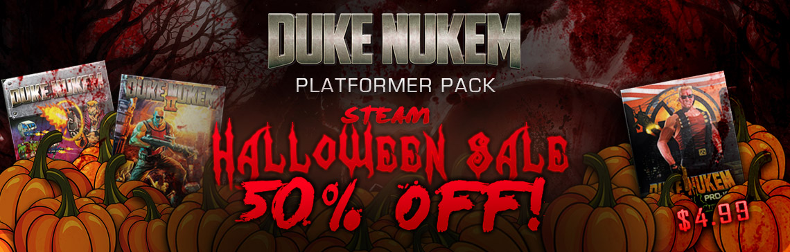 50% off Duke Nukem Platformer Pack During Steam's Halloween Sale!