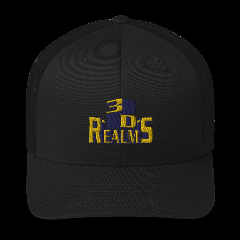 Classic 3D Realms Trucker Cap - Black