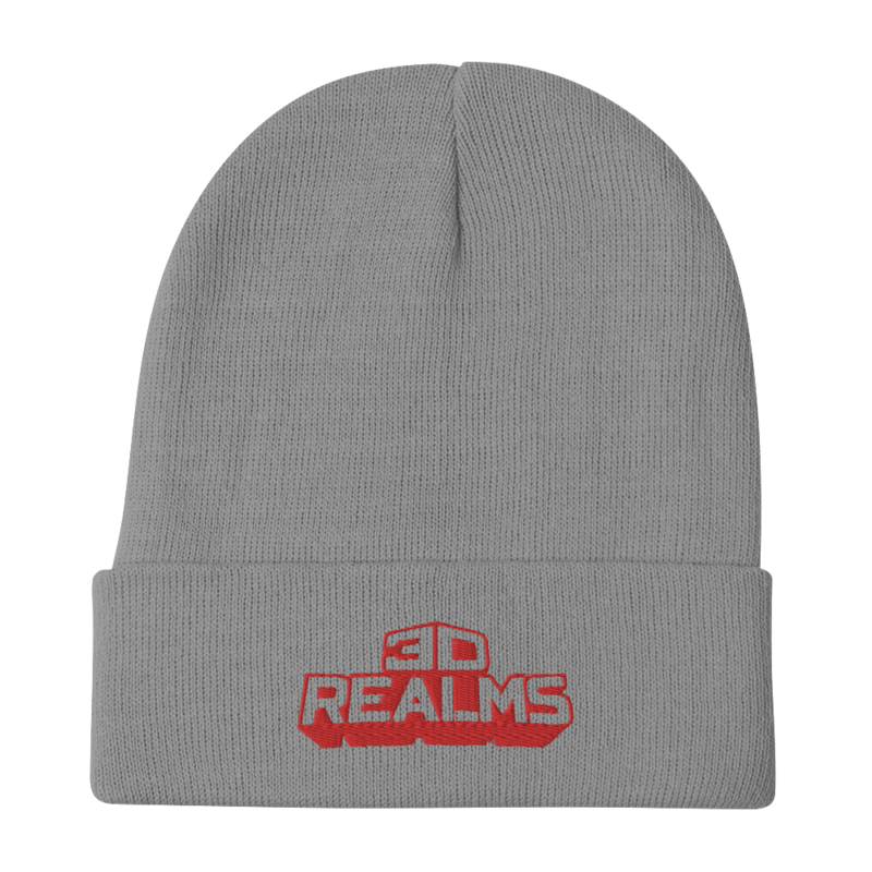 3D Realms Embroidered Beanie - Gray