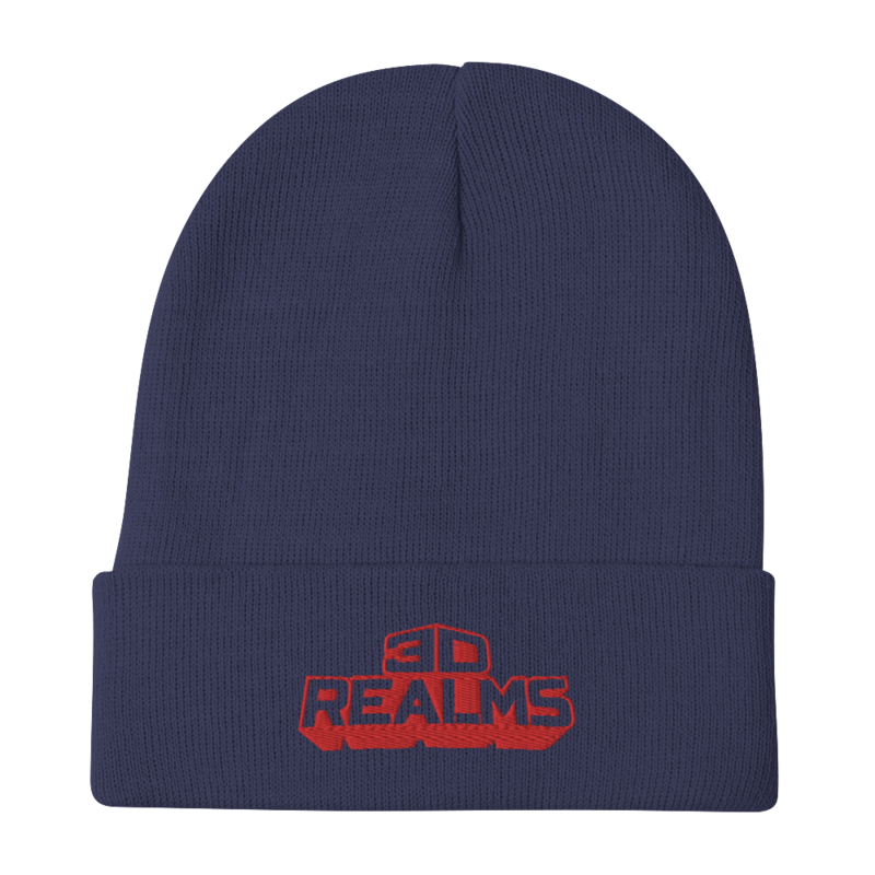 3D Realms Embroidered Beanie - Navy
