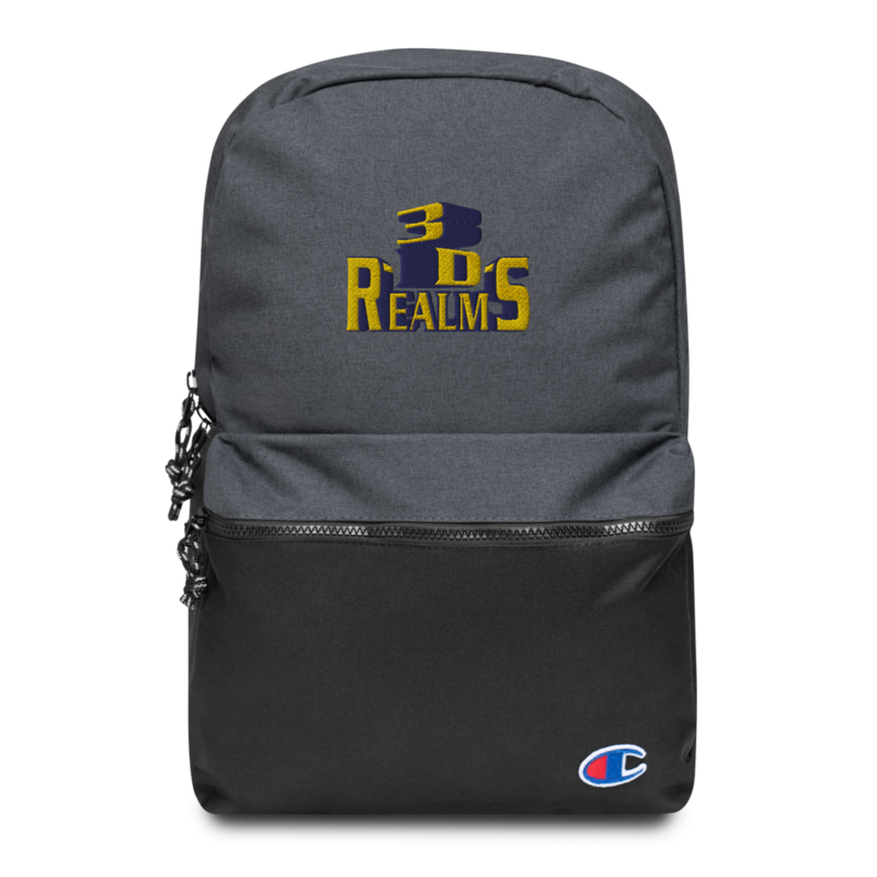 Classic 3D Realms Embroidered Champion Backpack