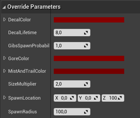 Editing public parameters